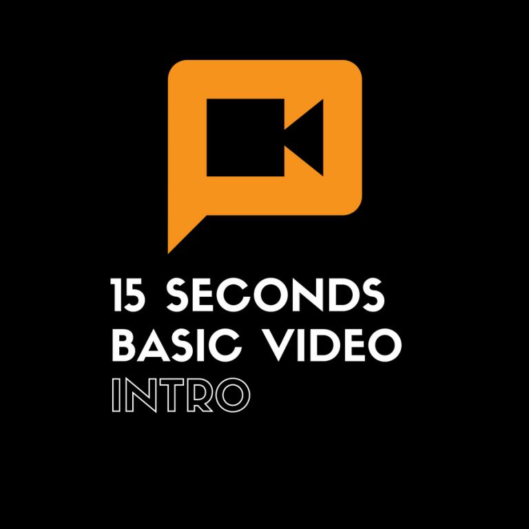 basic video intro 15 seconds