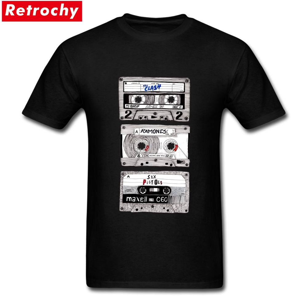 mix tape radio short sleeve cotton custom k7 punk mix tee. Black Bedroom Furniture Sets. Home Design Ideas