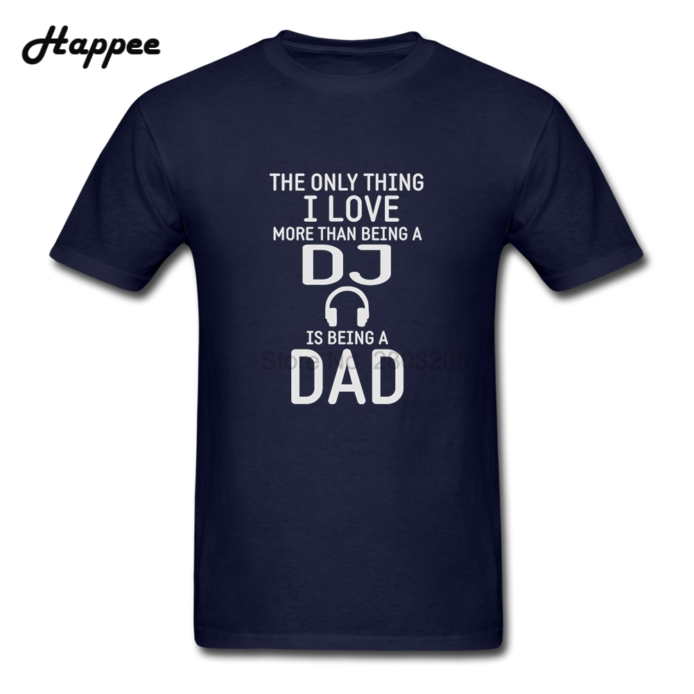 Funny A DJ And Dad T Shirts Men Present Gift Tees For Dad Short ...