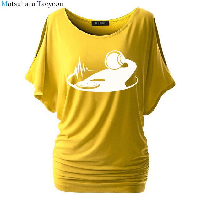 e8eca1ef DJ Night Club Karaoke Fashion Women clothing Print T-shirt Top Short Sleeve  Female clothing t shirt for Brand Tshirt