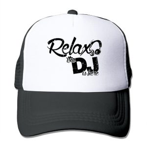DUTRODU For Men Women Baseball-caps Mesh Back Relax The DJ Is Here Hat Caps  hip hop hat vary colors high quality c72be0276066