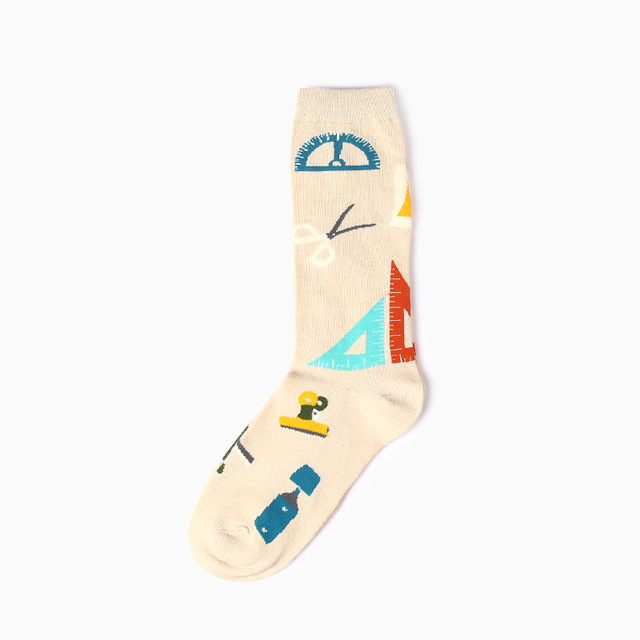 High Quality Socks Men Musical Note Beer Printed Cotton Hip Hop Long Happy  Funny Sox Harajuku Designer Calcetines Meias Male New 3189b38f957