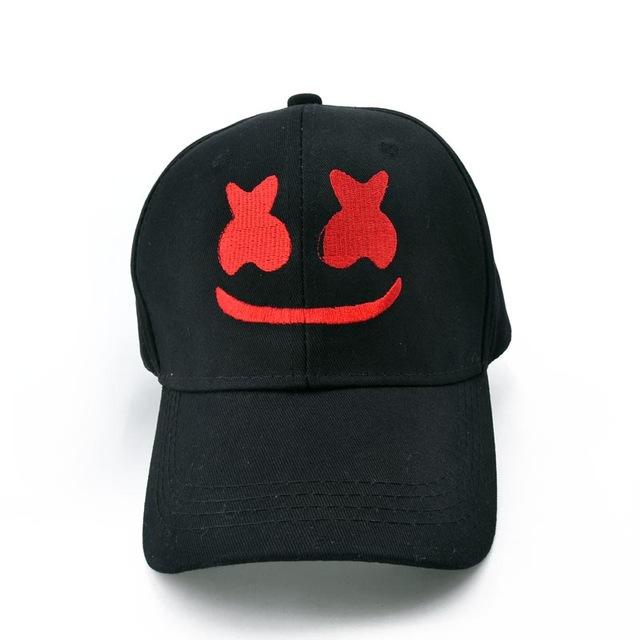 e29a2b770cc Marshmello DJ ROCK cap Funny Embroidery baseball caps Pure cotton caps  Adjustable snapback hats for women men Music 100 dj